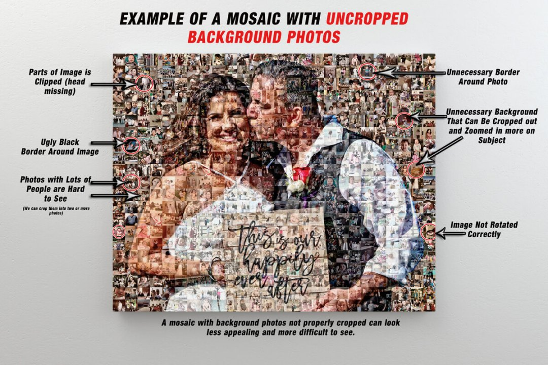 Example of a Photo Mosaic with photos not cropped.
