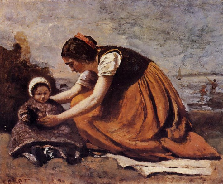 mother-and-child-on-the-beach-1860