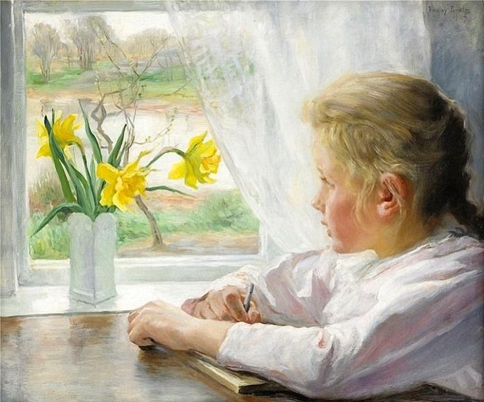 103004770_Fanny_Brate__Swedish_1861__1940__Girl_by_the_window