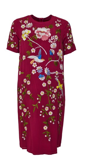 ASOS_Maternity_Bird_And_Floral_Embroidered_Shift_Dress_-_£65