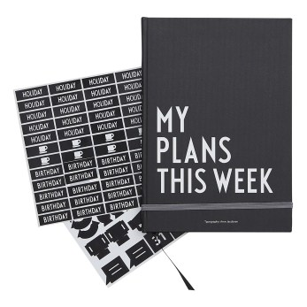 SMALLABLE Design Letters Reusable Planner Black £17