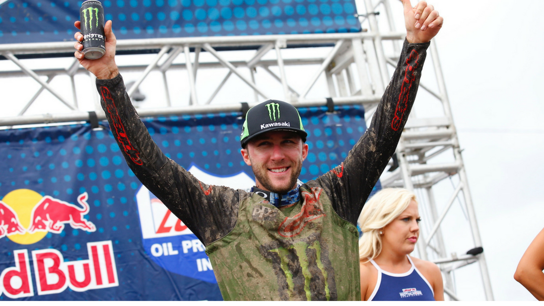 MONSTER ENERGY® KAWASAKI RIDER ELI TOMAC MUSCLED THE MUD AT UNADILLA TO MAINTAIN THE SERIES POINTS LEAD
