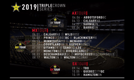 2019 Rockstar Energy Triple Crown Series Schedule