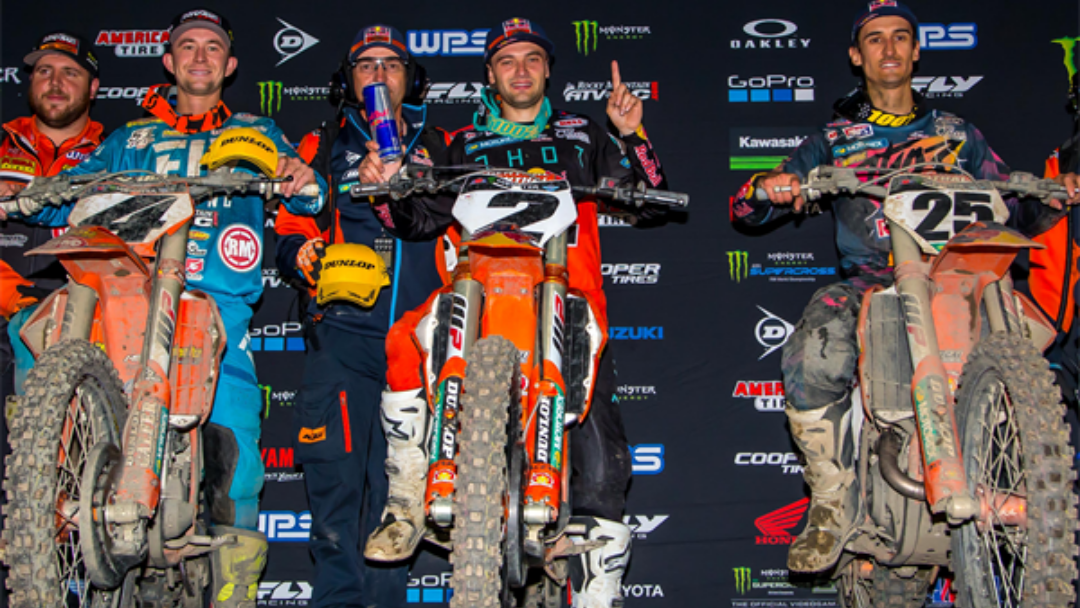 KTM SWEEPS 450SX PODIUM IN OAKLAND WITH RED BULL KTM'S WEBB AND MUSQUIN AT THE HELM