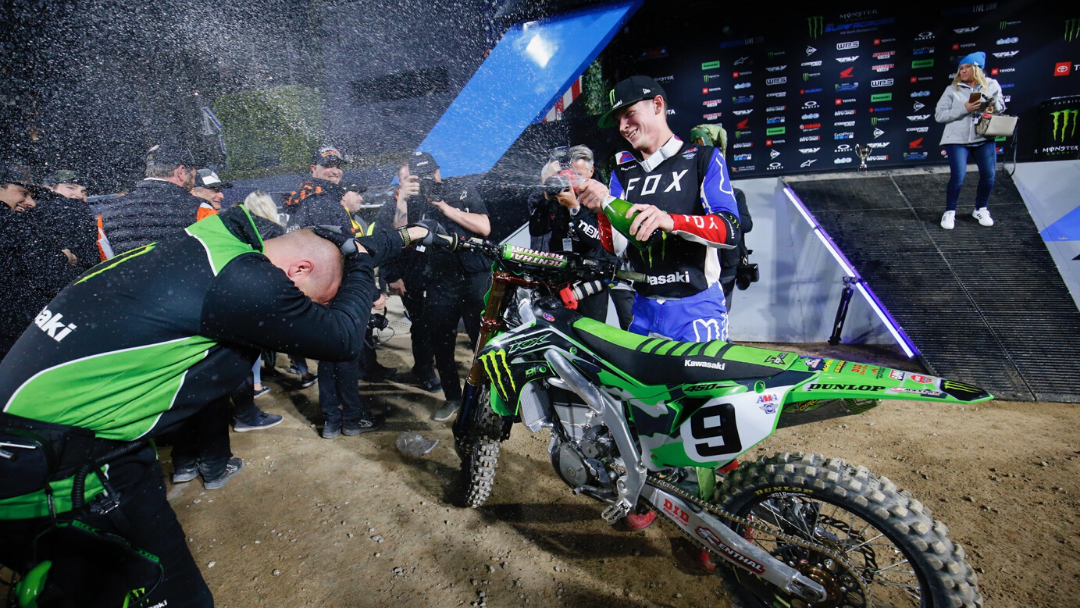 MONSTER ENERGY® KAWASAKI RIDER ADAM CIANCIARULO CAPTURES SECOND 450SX PODIUM OF THE SEASON