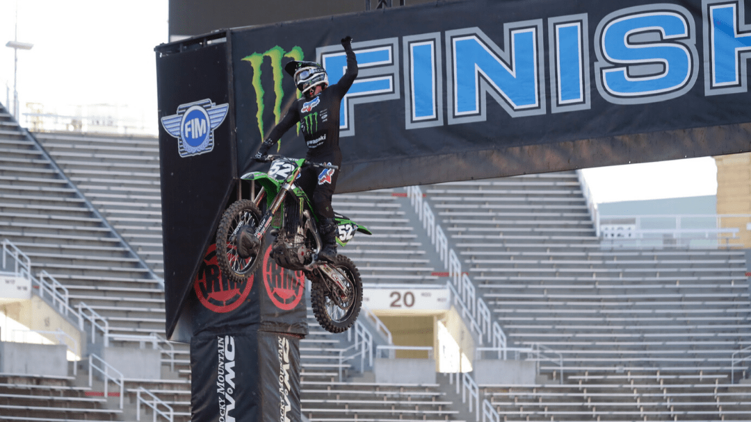 Monster Energy/Pro Circuit/Kawasaki's Austin Forkner Wins as 250SX West Region Racing Returns