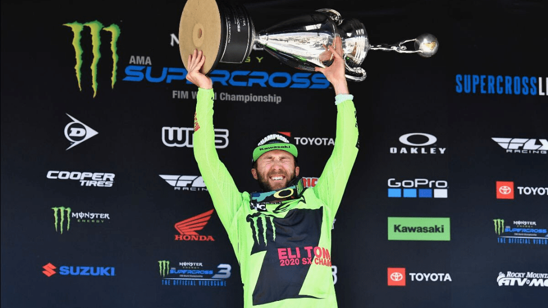 Monster Energy® Kawasaki Rider Eli Tomac Takes 450SX Championship in Monster Energy Supercross Finale