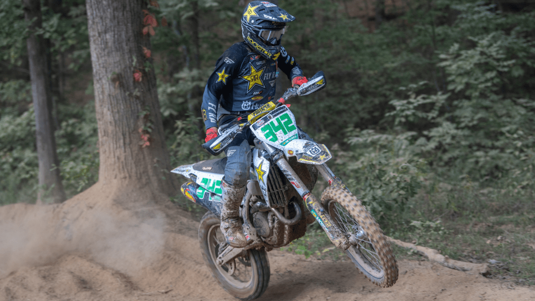 ROCKSTAR ENERGY HUSQVARNA FACTORY RACING'S CRAIG DELONG BATTLES FROM BEHIND TO FINISH ON THE PODIUM AT GNCC ROUND 10