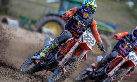 RED BULL KTM END MANTOVA TRIPLE HEADER WITH CAIROLI AND VIALLE ON THE PODIUM