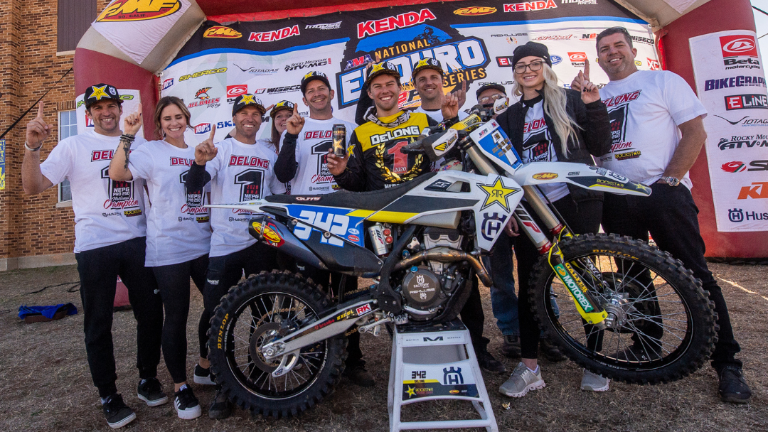 ROCKSTAR ENERGY HUSQVARNA FACTORY RACING'S CRAIG DELONG BECOMES 2020 NATIONAL ENDURO PRO2 CHAMPION