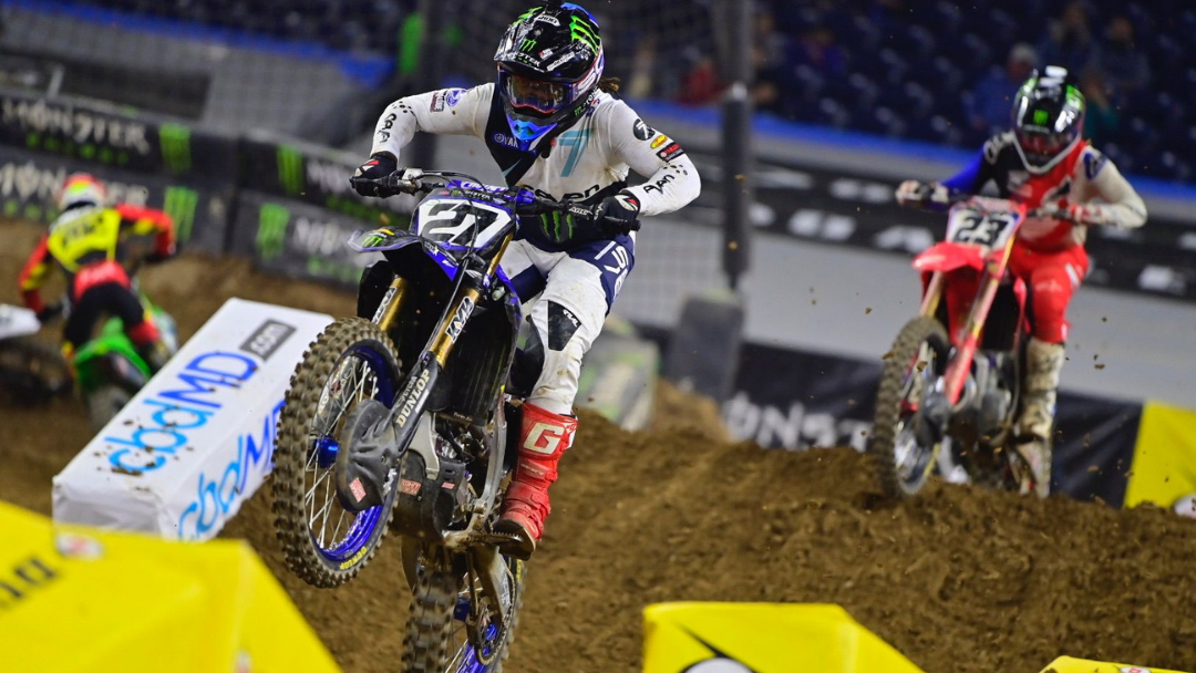 Stewart Scores Top-Five Finish in Monster Energy Star Yamaha Racing Debut