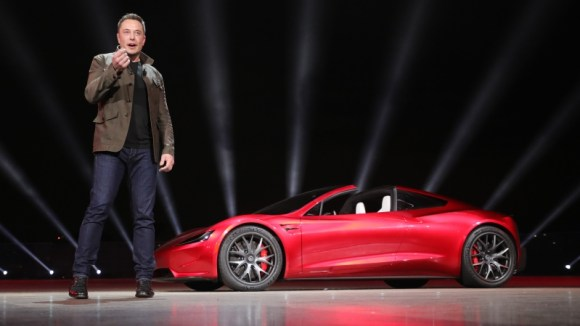 Elon Musk Tesla Roadster presentation