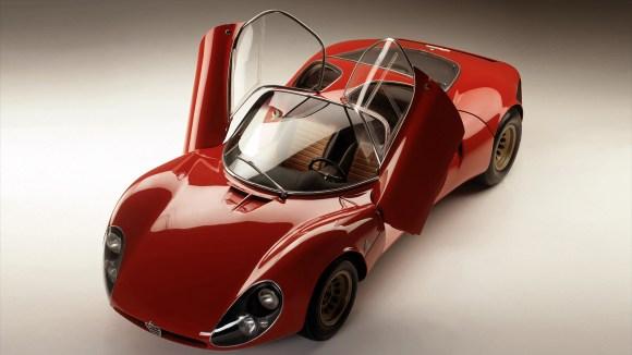 Alfa Romeo Tipo 33 Stradale butterfly door open top