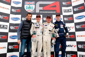 F1 racer Mark Webber handed out trophies on Sunday.