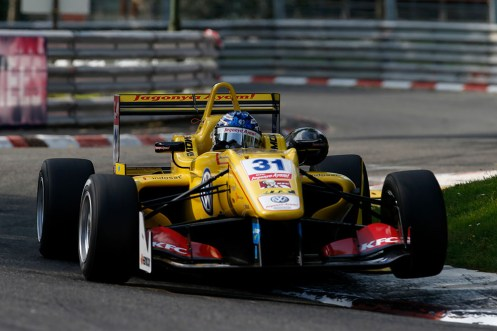 Blomqvist took a tough victory in race two at Pau. © FIA.