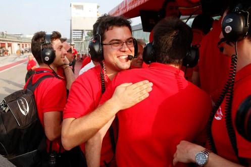 Ocon's Prema Powerteam team boss René Rosin celebrated... © FIA F3 Media.
