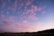Pastel clouds near sunrise