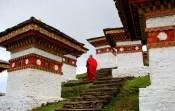 Time to observe a monk at the Dochula Pass; Photo: Kaushik Naik