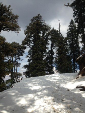 Funnily enough the snow makes it tough but enjoyable.