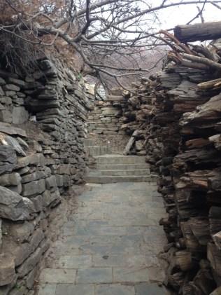Narrow stone pathways shepherd you upwards through the village. Photo: sanjay mukherjee