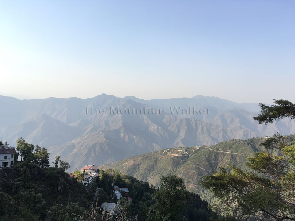 Checking out development on the other side of Gun Hill, Mussoorie; Photo: Swarjit Samajpati