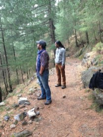 Abhishek and Ameen survey the land left behind