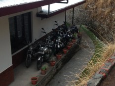 The Tethys resort in Narkanda is a traveller's dream with its fleet of Royal Enfield bikes, Ambassador cars, Mountain Bikes, and Mahindra Thar vehicles. Photo: sanjay mukherjee