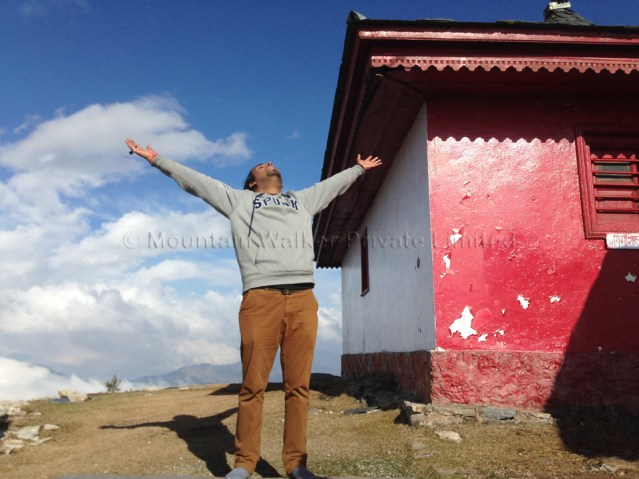 This is a 2016 photograph of the Mountain Walker COO, Ameen Shaikh, at Shaali Temple, Shaali Tibba.