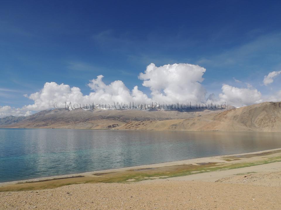 Letting the imagination run wild with cloud formations (a wild boar) at Tso Moriri; Photo: Abhishek Kaushal