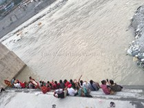 Seeing a small crowd at the Manikarnika Ghat in Uttarkashi gives us the incentive to stick around longer; Photo: Swarjit Samajpati