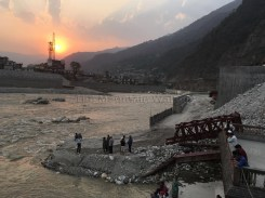 The effect of the 2014 floods can still be seen from the Manikarnika Ghat in Uttarkashi; Photo: Swarjit Samajpati
