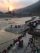 Watching the common folk busy with different activities during sunset at the Manikarnika Ghat in Uttarkashi; Photo: Swarjit Samajpati