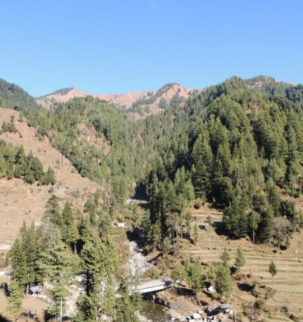 View from the Barot - Jogindernagar funicular rail track; Photo: Abhishek Kaushal