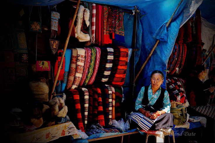 The small shops in and around McLeodganj are a treasure-trove of fabrics and materials. Photo: Milind Date.