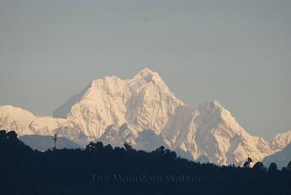 Close up of Pandim Peak as seen from Gangtok, SIkkim; Photo: Abhishek Kaushal