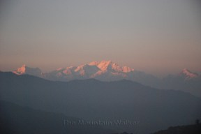 Sunset on Kanchenjunga as seen from Joubari, West Bengal; Photo: Abhishek Kaushal