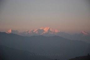 Sunset on Kanchenjunga as seen from Joubari, West Bengal; Photo: Abhishek Kaushal