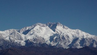 Close up of the Kanchenjunga main peak as seen from Sandakphu, West Bengal; Photo: Abhishek Kaushal