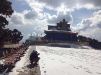 """In the meanwhile, Ameen is busy with his """"framing"""" at the Hatu Temple atop the Hatu Peak"""