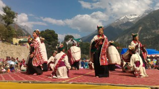 Kinnauri ladies performing a traditional dance portraying male and female roles; Photo: Abhinav Kaushal