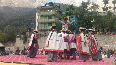 A traditional dance performed during Kinnauri marriages; Photo: Abhinav Kaushal.
