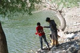 Village boys fishing at the Nako Lake; Photo: Abhinav Kaushal
