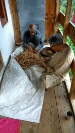 Separating the daal (Rajma) from the husk; Photo: Ameen Shaikh