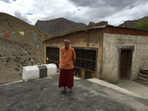 Lama Tenzin at Lalung Monastery; Photo: Sanjay Mukherjee