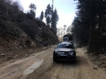 Widening of the road ahead of Kotkhai; Photo: Abhinav Kaushal
