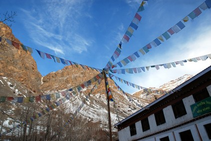 Spreading out prayers into the bright sky at Ki Monastery; Photo: Abhinav Kaushal