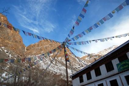 Spreading out prayers into the bright sky at Ki Monastery; Photo: Abhinav Kaushal