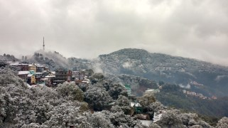 Shimla; after the snow stops leaving behind a beautiful sight of Shimla. Pic courtesy: Rahul Negi.