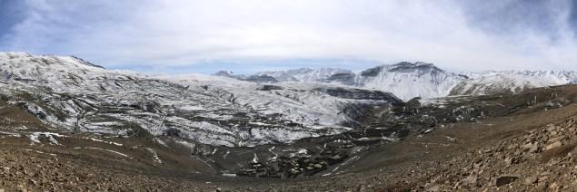 The beautiful panoramic view of Hikkim village, Spiti.