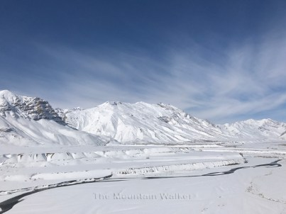 The beautiful view of the mountains towards Rangrik.